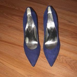 Guess heels. Blue. Size 8. Worn
